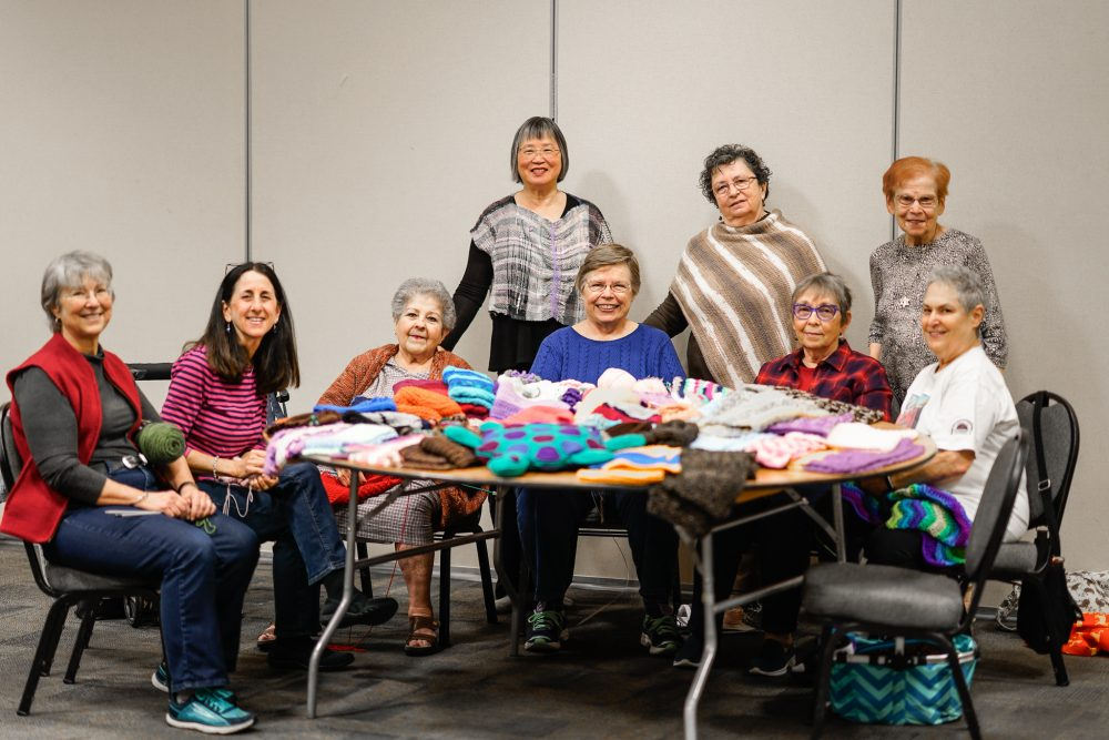 All the Mitzvah Knitters women together