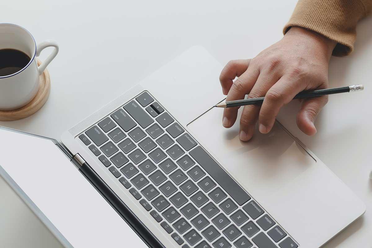 Typing on Keyboard Pencil Coffee
