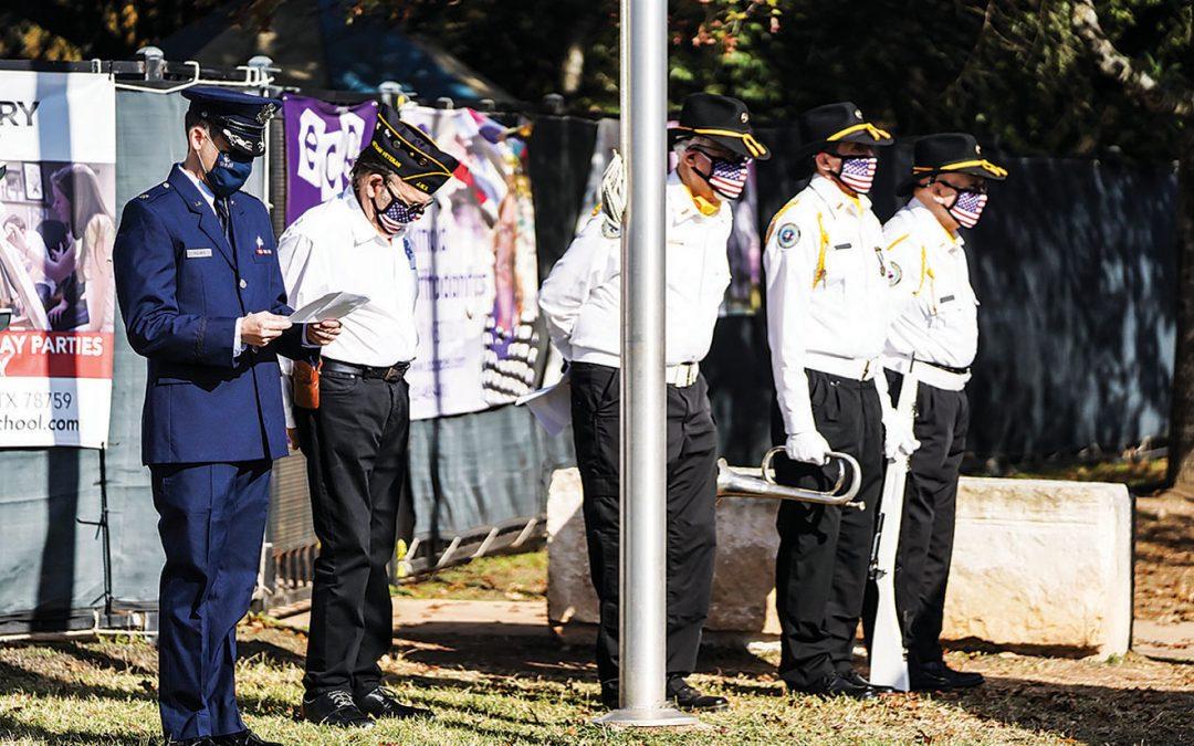 Jewish War Veterans Post 757 Raises Flag in Honor of Veterans Day