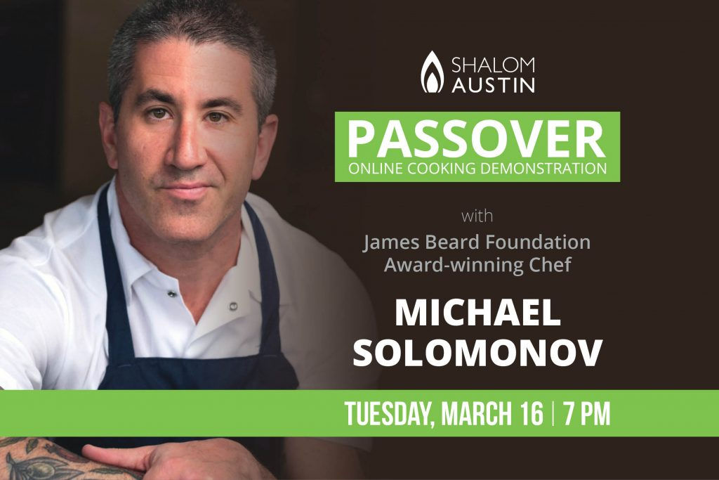 Passover Virtual Cooking Demonstration With James Beard Foundation Award-winning Chef Michael Solomonov