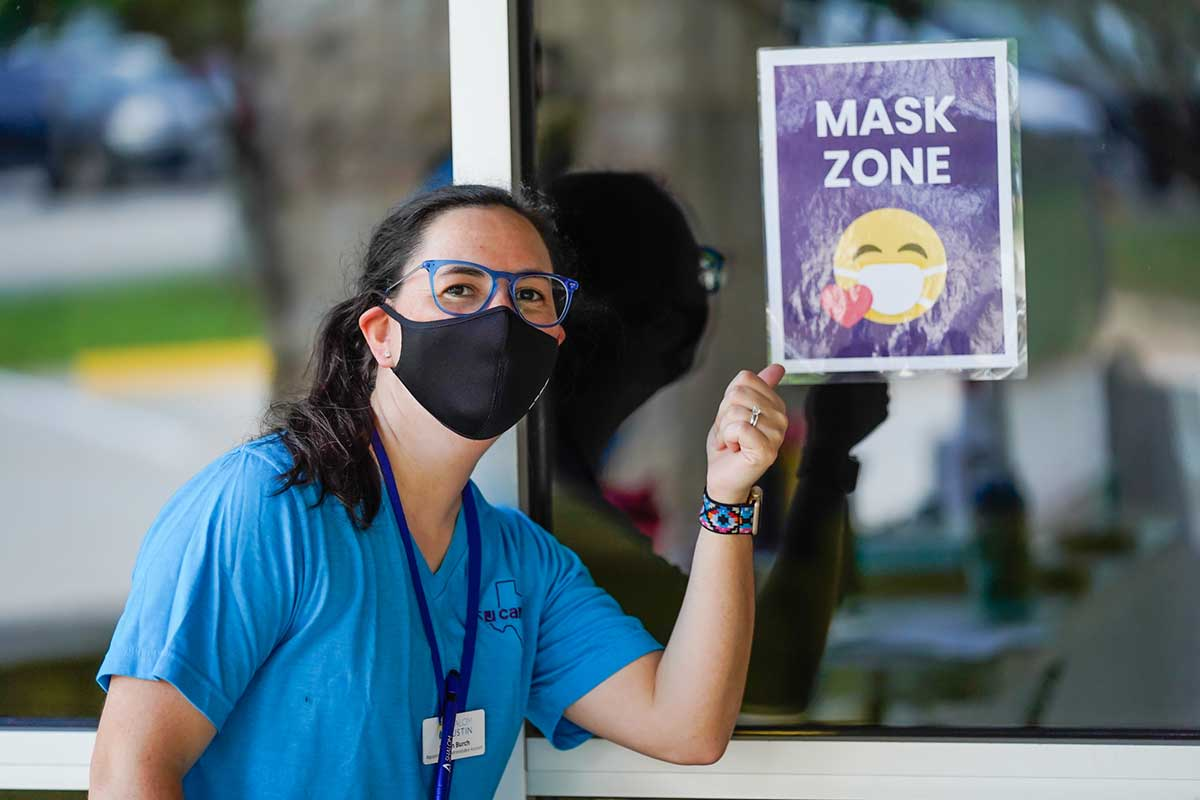JCamps Health Safety Mask Zone
