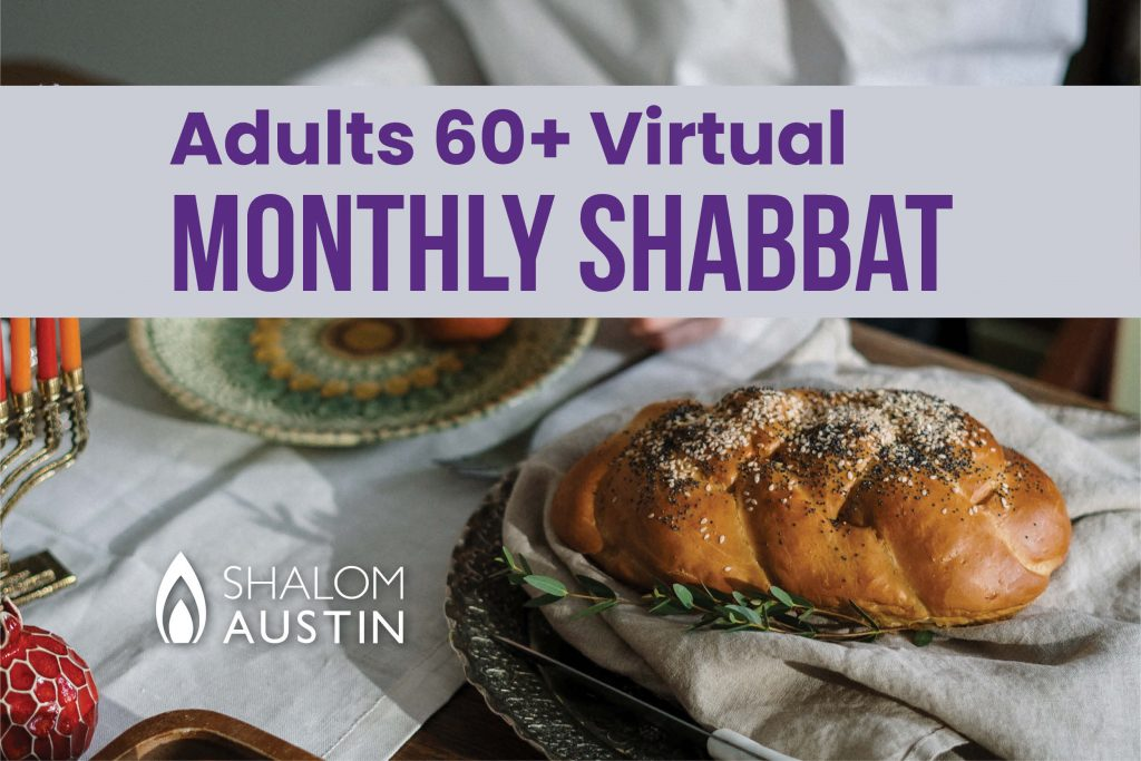 Adults 60+ Virtual Shabbat Featuring Rabbi Gail Swedroe
