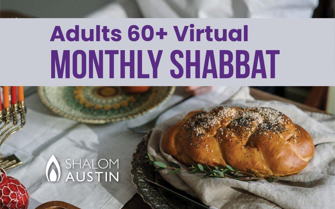 Adults 60+ Virtual Shabbat Featuring RabbiGailSwedroe
