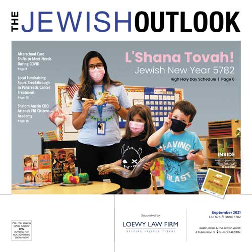 Jewish Outlook September 2021 Cover